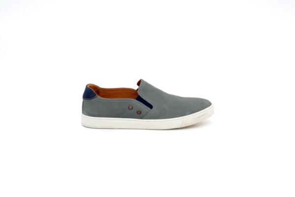 Ежедневни сиви мъжки обувки от естествен набук 55.5040