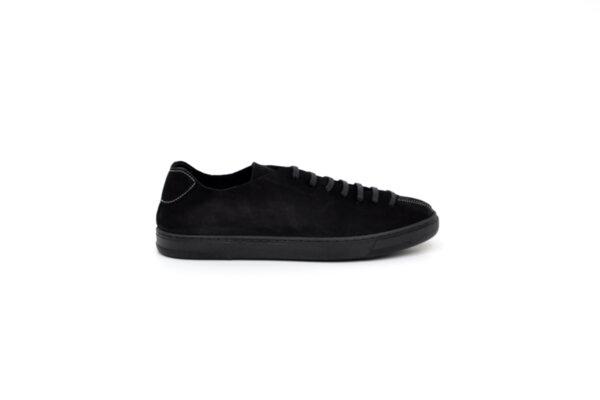 Спортни черни мъжки обувки от естествен набук 55.8042