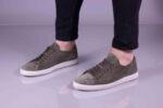 Спортни зелени мъжки обувки от естествен велур 55.6090