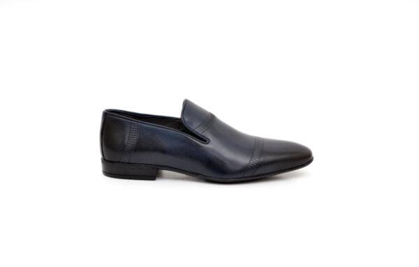 Елегантни сини мъжки обувки от естествена кожа 18.25050