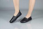 Ежедневни черни дамски обувки от естествена кожа 55.305