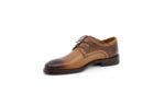 Елегантни камелени мъжки обувки от естествена кожа 18.551