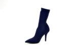 Елегантни сини дамски боти от стреч на висок ток 53.2958