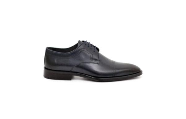 Елегантни сини мъжки обувки от естествена кожа 18.215