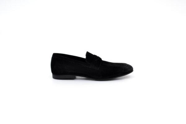 Ежедневни черни мъжки обувки от естествен велур 11.5125
