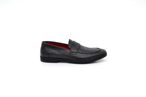 Ежедневни черни мъжки обувки от естествена кожа 11.5298