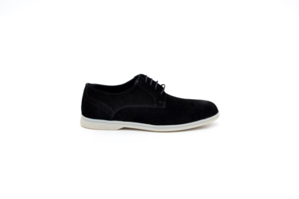 Ежедневни черни мъжки обувки от естествен велур 11.3996