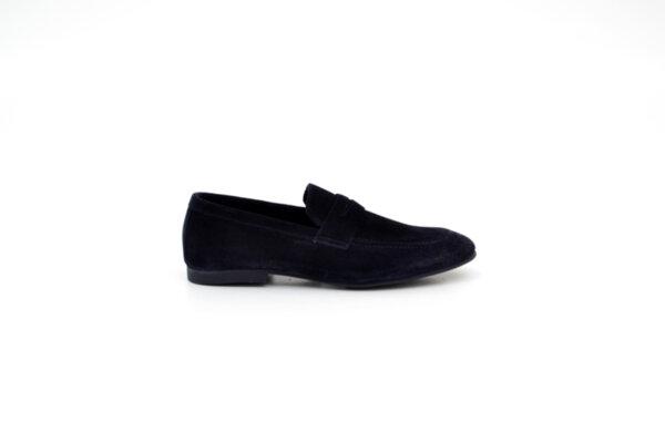 Ежедневни сини мъжки обувки от естествен велур 11.5125