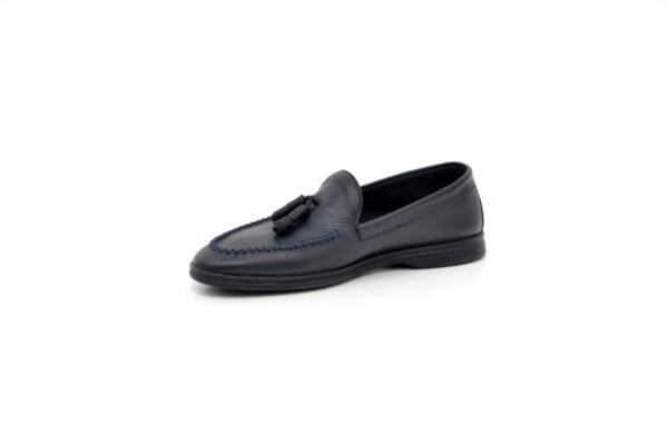 Ежедневни сини мъжки обувки от естествена кожа 11.5130