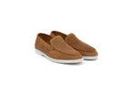 Ежедневни камелени мъжки обувки от естествен набук 11.5160