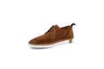 Ежедневни камелени дамски обувки от естествен велур 11.5308