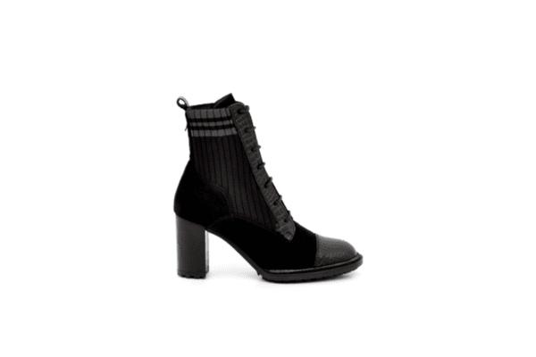 Елегантни черни дамски боти на висок ток 37.87585