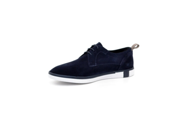 Ежедневни сини мъжки обувки от естествен велур 11.5308
