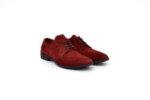 Ежедневни червени мъжки обувки от естествен велур 11.5286