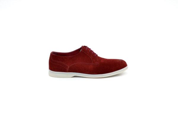Ежедневни червени мъжки обувки от естествен велур 11.3996