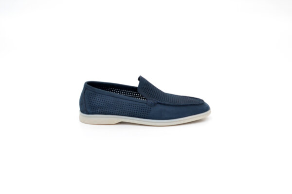 Ежедневни сини мъжки обувки от естествен набук 11.5160