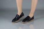 Ежедневни черни дамски обувки от естествена кожа 56.518