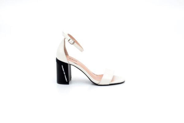 Елегантни бежови дамски сандали от естествена кожа на висок ток 04.1278