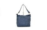 Дамска синя чанта от естествена кожа 16.09