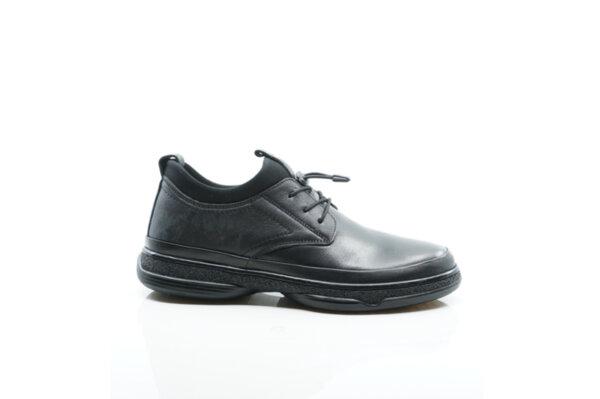 Ежедневни черни мъжки обувки от естествена кожа 57.5020
