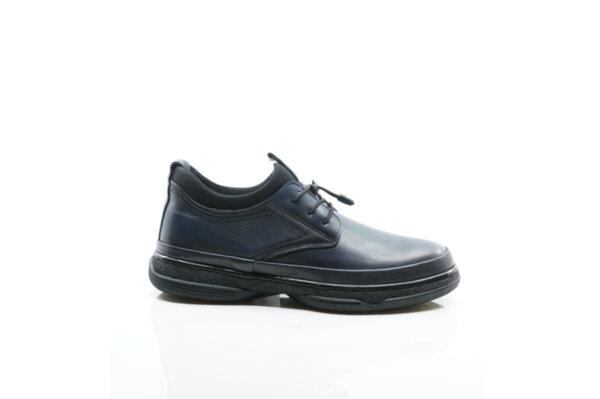 Ежедневни сини мъжки обувки от естествена кожа 57.5020