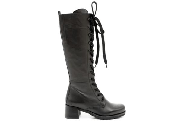 Ежедневни черни дамски ботуши от естествена кожа 29.14550