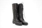 Ежедневни черни дамски ботуши от естествена кожа 06.2258