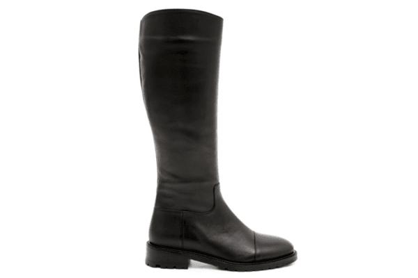 Ежедневни черни дамски ботуши от естествена кожа 01.400