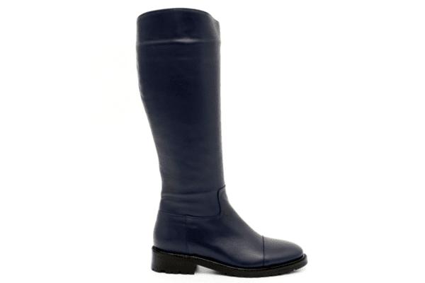 Ежедневни сини дамски ботуши от естестевена кожа 01.400