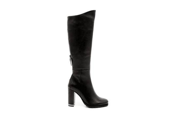 Елегантни черни дамски ботуши от естествена кожа на висок ток 29.4481
