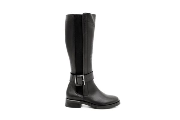 Ежедневни черни дамски ботуши от естествена кожа 10.34049