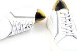 Мъжки бели спортни обувки от естествена кожа 57.25503