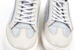 Мъжки бели спортни обувки от естествена кожа и велур 57.48702