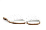 Дамски бели чехли от естествена кожа 01.04