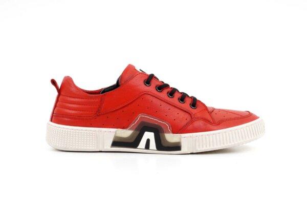Мъжки спортни червени обувки от естествена кожа 57.72702