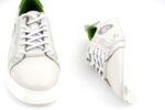 Мъжки бели спортни обувки от естествена кожа 57.24802