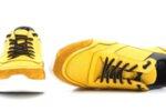 Мъжки спортни жълти обувки от естествена кожа 57.70402