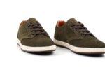 Ежедневни зелени мъжки обувки от естествен набук 57.2885