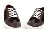 Спортни кафяви мъжки обувки от естествена кожа и велур 57.48702