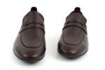 Ежедневни кафяви мъжки обувки от естествена кожа 57.25901