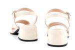 Елегантни дамски сандали от бежов лак на висок ток 04.7952