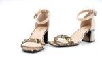 Елегантни бежови дамски сандали от естествен лак на висок ток 29.15031