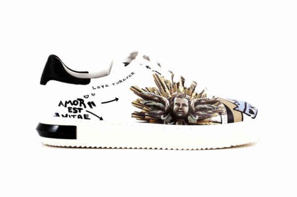 Спортни бели дамски обувки от естествена кожа 10.3315