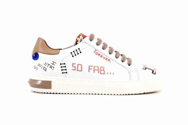 Спортни бежови дамски обувки от естествена кожа 10.33159