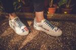 Спортни сини дамски обувки от естествена кожа 10.33159