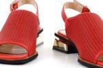 Ежедневни червени дамски сандали от естествена кожа 29.12003