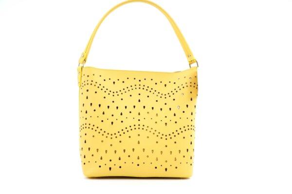 Дамска жълта чанта от еко кожа 17.1917