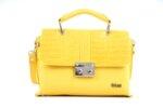 Дамска жълта чанта от еко кожа 17.2313
