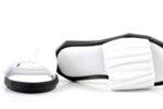 Дамски бели чехли от естествена кожа 56.2501