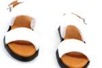 Ежедневни бели дамски сандали от естествена кожа 56.2504